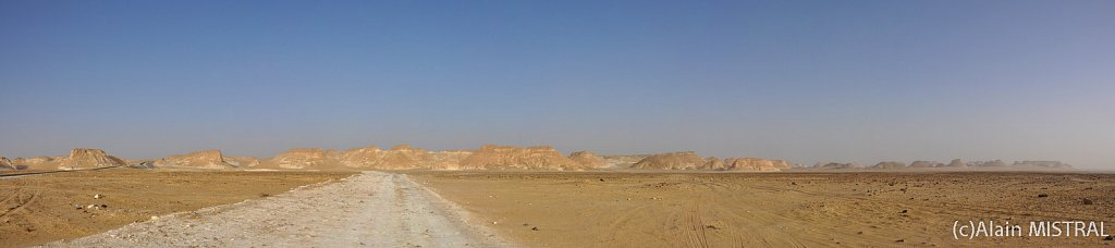 Premier contact avec le désert blanc